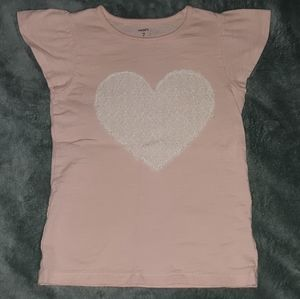 Carter's Lace Heart Tshirt Girls Size 7